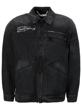 X Pioneer Sound Engineering Zipped Denim Jacket Black