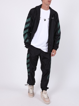 Diagonal Stripes jacket BLACK/WHITE