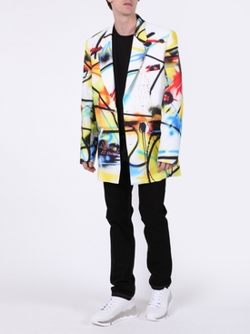 Futura Spray Print Blazer MULTICOLOR