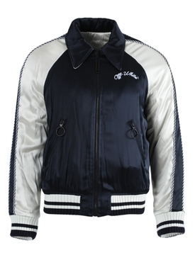 Navy and white reversible Souvenir jacket