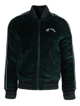 Dark green reversible Souvenir velvet jacket