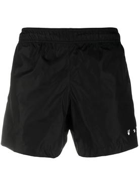 OW Logo Swimshorts Black White