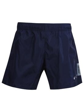 OW Logo Swimshorts Blue White