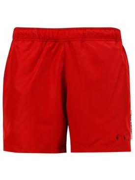 For Swim Logo Swim shorts, RED
