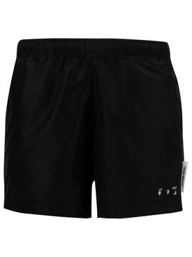 For Swim Logo Swim shorts, BLACK