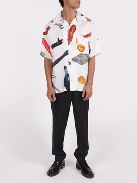 Pascal holiday short-sleeve silk shirt