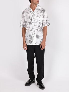 White and black Paper clip print shirt