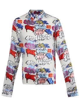 Graffiti slim shirt
