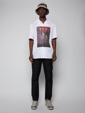 Sprayed Caravaggio holiday shirt, white