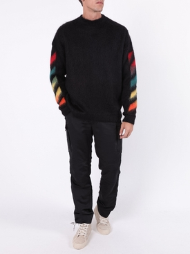 Brushed mohair sweater BLACK
