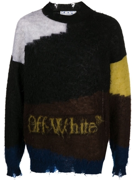 Multicolored punked crewneck jumper