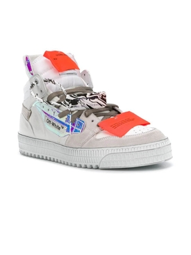 Off court paneled high-top sneakers WHITE IRIDESCENT