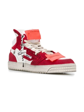 Off court paneled high-top sneakers WHITE/RED
