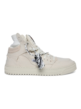 3.0 off court canvas high-top sneakers BEIGE
