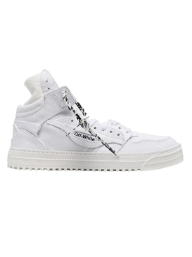 3.0 off court canvas high-top sneakers WHITE
