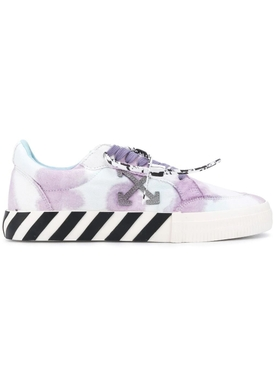 Tie-Dye low Vulcanized sneakers WHITE/LILAC