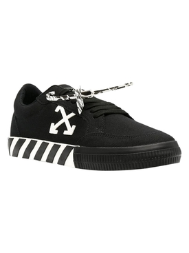 Low vulcanized canvas sneakers Black White