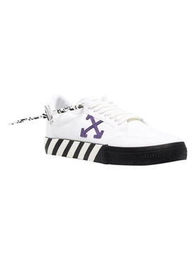 Low vulcanized canvas sneakers White Purple