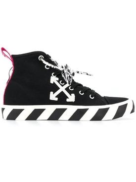 Mid-top Vulcanized sneaker BLACK/WHITE