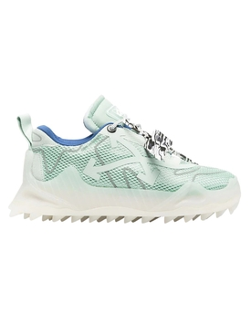 Odsy mesh paneled low-top sneakers MINT AND SILVER