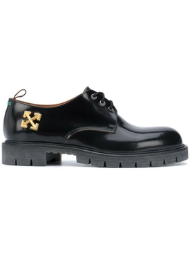 BLACK ARROW DERBY LOAFERS