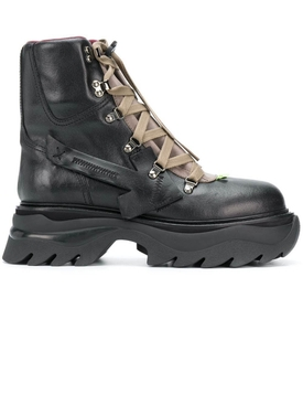 Black equipment combat boots