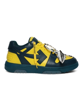 Out of office low-top sneaker BLUE AND YELLOW