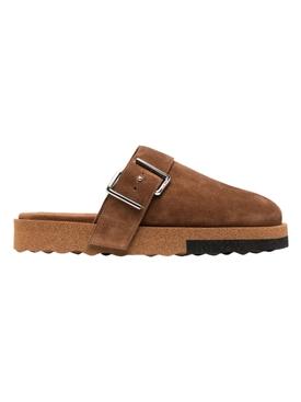 Comfort leather slipper, brown