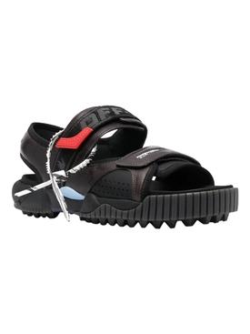 Odsy logo strap sandal, black