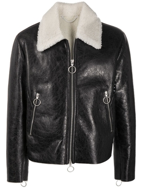 Black Leather Shearling Jacket