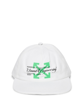 X Pioneer Sound Engineering Cap White and Green