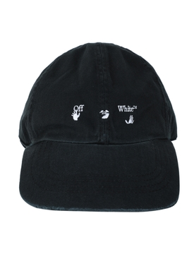 Classic cotton baseball cap BLACK & WHITE