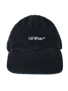Black and white logo baseball cap