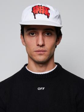 White graffiti baseball cap