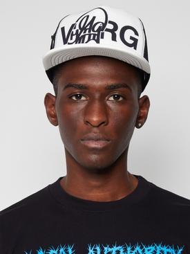 X Katsu Paperclip Motif Trucker Hat White