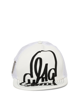 X Katsu paperclip trucker hat white and black