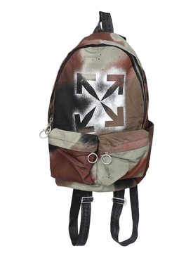 Brown camouflage stencil backpack