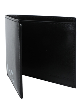 Black and white logo wallet