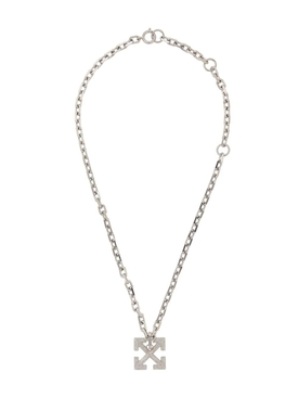 Silver-tone arrow necklace