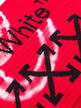 Tie-dye logo socks RED/BLACK