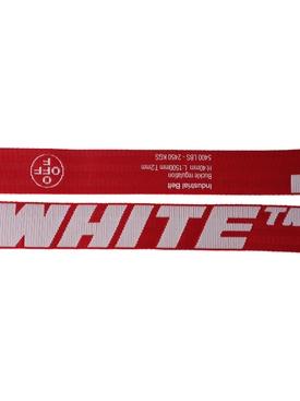 Logo-detail Industrial Belt RED/WHITE