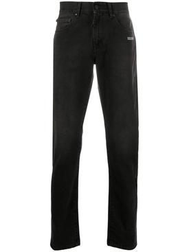 Slim cotton denim jeans BLACK