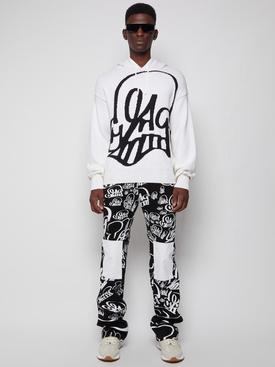 X Katsu skinny stacked jeans black and white