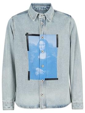 Blue Mona Lisa Denim Shirt