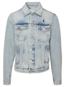 Blue mona lisa denim jacket