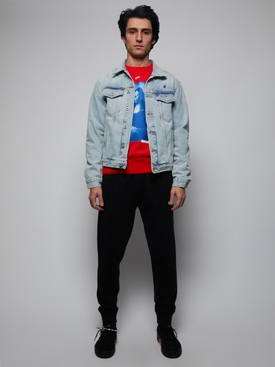Blue mona lisa denim jacket