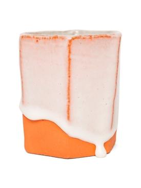 Raw Ground Clay Glass Orange
