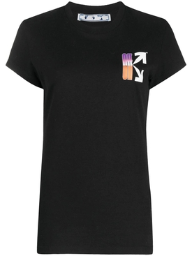 Gradient Fitted T-shirt BLACK