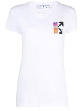 Gradient Fitted T-shirt WHITE