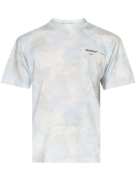Light Blue and Grey Tie-Dye T-shirt